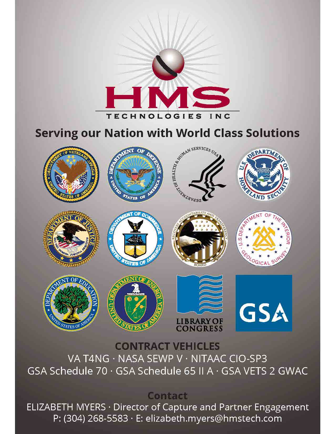 HMS TECHNOLOGIES INC. Serving our Nation with World Class Solutions