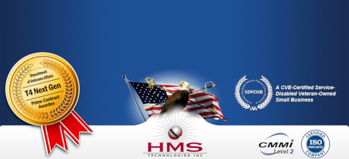 HMS Logo with Bald Eagle in front of US Flag